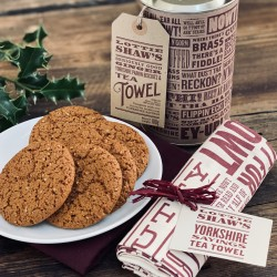 Yorkshire Parkin Biscuits & Tea Towel Gift Tube
