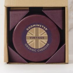 Godminster 2kg Vintage Organic Cheddar in a Gift Box