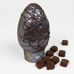 Artisan Milk Chocolate Easter Egg Filled with Natural Spring Salt Truffles