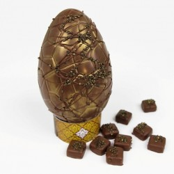 Artisan Chocolate Easter Egg with Gin and Tonic Truffles