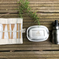 Reusable Essentials for Kids - Lunchbox, Bamboo Cutlery, Bottle