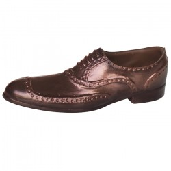 PORTER DARK CHOCOLATE BROGUE WITH BRONZE EFFECT