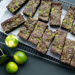 Zesty Lime & Sea Salt Brownie - Vegan & Gluten Free (14 Slices)
