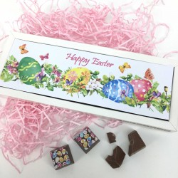 Personalised Happy Easter Chocolates with Spring Flowers