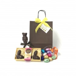 'Happy Easter' Gift Bag with Bunnies & Mini Eggs - Dairy Free