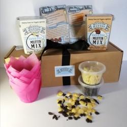 Vegan Vanilla & Chocolate Muffin Making Kit Box