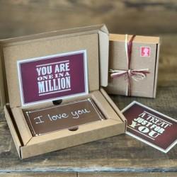 Valentine's Personalised Millionaire Shortbread