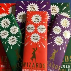 Mixed Selection of Vegan & Low Sugar Mini Chocolate Bars (9 Bars)