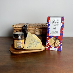 "French Cheese Gift Hamper With Classic 12"" Wicker Basket"