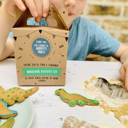 Personalised Dinosaur Biscuit Baking Party Bag