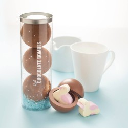 Hot Chocolate Bombes with Marshmallow Ducks