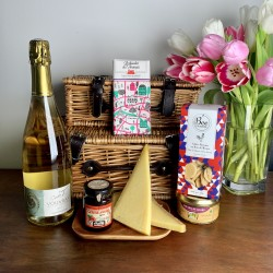 Luxury French Gift Hamper With Classic Wicker Basket