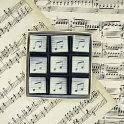 Chocolate Musical Notes