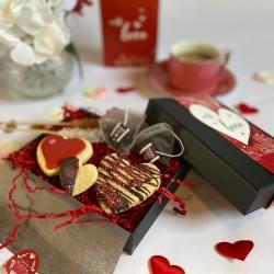 Valentines Luxury Biscuit Box & Tea