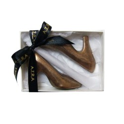 Pair of Handmade Chocolate Designer Shoe Favours