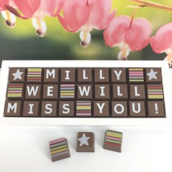 Personalised WE WILL MISS YOU Chocolates