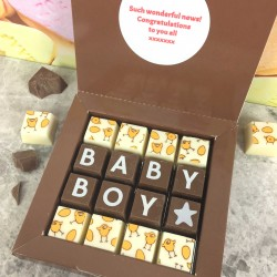 New 'Baby Boy' Personalised Message Chocolates