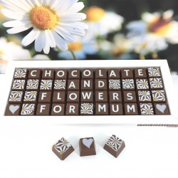 Personalised Chocolates and Flowers Gift for Mum