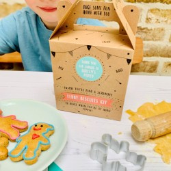 Personalised Teddy Bear Biscuit Baking Party Bag
