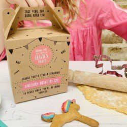 Personalised Unicorn Biscuit Baking Party Bag