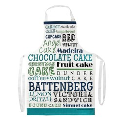 Green/Blue Cake Typography Kitchen Apron
