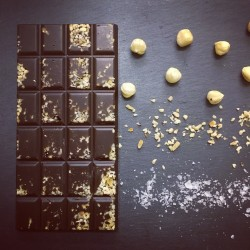 Handmade Dark Chocolate Bars with Salted Hazelnut