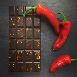 Handmade Dark Chocolate Bars with Chilli