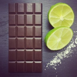 3 Handmade Dairy Free Milk Chocolate Bars with Lime & Sea Salt