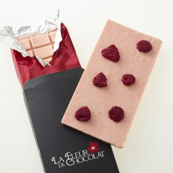 Handmade White Chocolate Bars with Raspberry & Rose