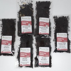 Black Loose Leaf Tea Sample Collection
