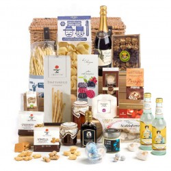 Vegatariano Hamper In Wicker Basket