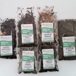 Green Loose Leaf Tea Sample Collection