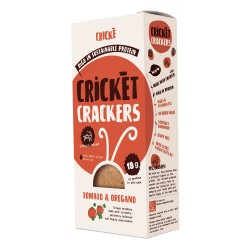 Cricket crackers - tomato & oregano