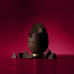 Nut Free Solid Belgian Dark Chocolate Egg (750g)