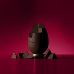 Nut Free Solid Belgian Dark Chocolate Egg (750g)