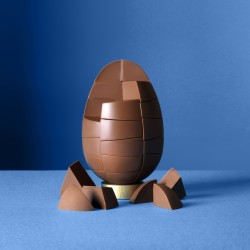 Nut Free Solid Belgian Milk Chocolate Egg (750g)