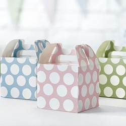 Polka Dot Party Boxes (Pack of 12)