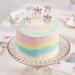 Unicorn Birthday Cake Candles (Pack of 5)