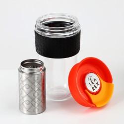 TEA REX Reusable XL Travel Mug with Built-in Filter