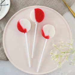 Strawberries and Cream Lollipops (Pack of 5)