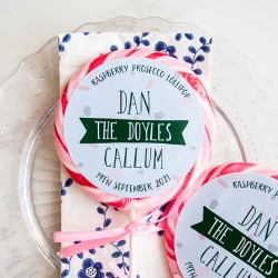 Personalised Surname Wedding Favour Giant Lollipops
