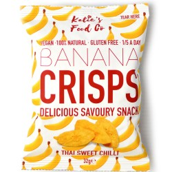 Thai Sweet Chilli Banana Crisps | Vegan & Gluten Free (Pack 12)
