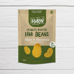 Crunchy Roasted Fava Beans - Simply Salted
