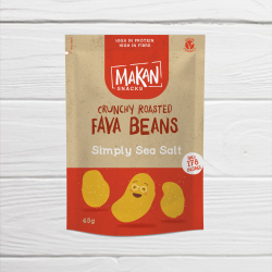 Simply Sea Salt Crunchy Roasted Fava Beans (10 x 45g packs)