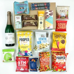 Family Snack Box + Thomson & Scott Noughty Sparkling Wine