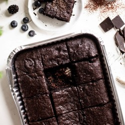 Indulgent Gluten Free Chocolate Brownie Sharer - Serves 12 - 16 ( Gluten and Refined Sugar and Palm Oil Free)