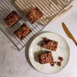 Gluten-free Salted Pecan Brownies
