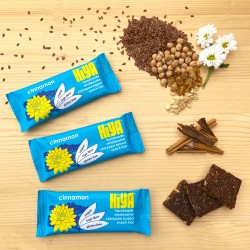 Handmade Plant Protein Snack Bars - Cinnamon (Box of 15)