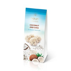 Coconut & Chia Vegan Healthy Truffles (3 packs of 10 turffles)