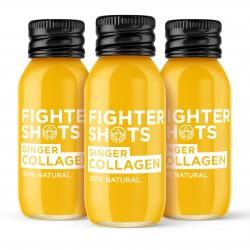 Organic Ginger + Marine Collagen 3,000mg - 100% Natural - Collagen Drink - 12x60ml